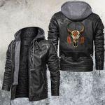 Native Buffalo Skull Leather Jacket