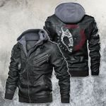 Mythology Norse Creature Jotnar Motorcycle Rider Leather Jacket
