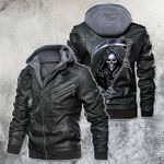 Grim Reaper Faith Or Fear Motorcycle Leather Jacket