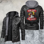 Ride Fast Die Young Helmet Chicken Leather Jacket