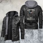 Victory Or Valhalla Skull Leather Jacket
