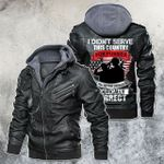 I Didn't Serve This Country For Pussies US Army Motorcycle Leather Jacket