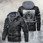 Firefighter Do It In All Position With 100% Penetration Skull Motorcycle Leather Jacket