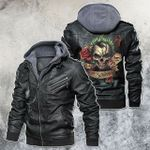 Joker Skull Why So Serious Motorcycle Leather Jacket