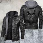 Twin Skull Leather Jacket