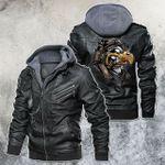 Savage Smoking Eagle Motorcycle Leather Jacket