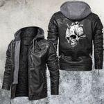 Hand Holds Skiked Skull Leather Jacket