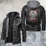 America Native Skull Leather Jacket