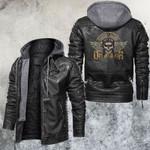Death Before Dishonor Skull Leather Jacket