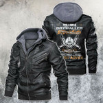 Yes, I'm A Drywaller Skull Motorcycle Leather Jacket