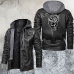 Skull and Rose Leather Jacket