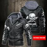 Personalized Name Logger Skull Leather Jacket