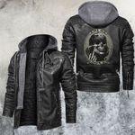 Trust None Leather Jacket Skull Biker