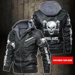 Personalized Name I Am Crane Operator Leather Jacket