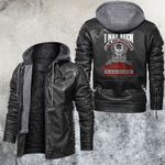 Make Your Nightmare Become A Happy Place Leather Jacket
