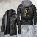 The Page Of Ring Tarot Card Leather Jacket