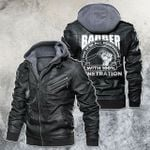 Barber Do It In All Position With 100% Penetration Motorcycle Leather Jacket