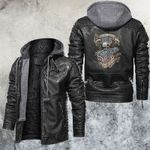 Armed Forces Strong And Free Leather Jacket