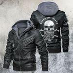 Beard Till Death Barber Skull Leather Jacket