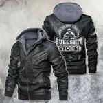When The Hood Drop The Bullshit Welder Motorcycle Leather Jacket