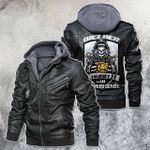 Welder The Engineer With Common Sense Skull Leather Jacket