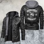 Larmaca Del Diablo Skull Leather Jacket