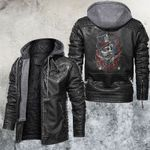 Jeff the Gambler Flame Leather Jacket