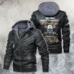 Yes, I'm A Mechanic Skull Motorcycle Leather Jacket