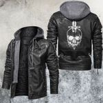 Skull and Knife Leather Jacket