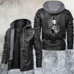 Watching Skull Inside Leather Jacket