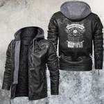 I Have Three Side Skull Leather Jacket