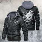 Samurai Mask Cyberpunk 2077 Leather Jacket