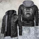 Tri-skull Monster Leather Jacket
