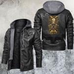 Zodiac Aries Motorcycle Club Leather Jacket