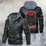Viking Warrior Skull Motorcycle Rider Leather Jacket