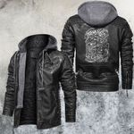 Beauty But Deadly Star Traps Leather Jacket