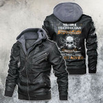 Yes, I'm A Technician Skull Motorcycle Leather Jacket