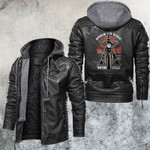 Born To Ride Live Young Die Free Motorcycle Club Leather Jacket