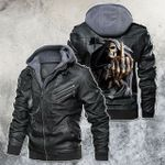 I Fear No Death Motorcycle Skull Leather Jacket