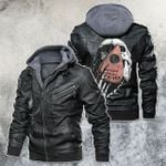 Meet The Death By Oujaboard Motorcycle Skull Leather Jacket