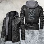 Zodiac Pisces Motorcycle Club Leather Jacket