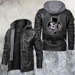 Gamble Club Skull Leather Jacket