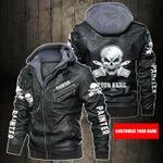 Personalized Name Painter Skull Leather Jacket