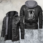 Born From Pain Wolf And Rose Leather Jacket