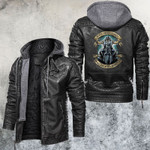 Never Underestimate An Old Man With A Motocycle Skull Leather Jacket