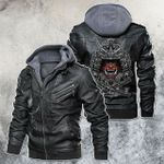 Samurai Oni Mask Motorcycle Leather Jacket