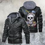 Self-made Man Skull Welder Leather Jacket