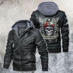Personalized Name Legend Never Die Racing Skull Mortocycle Leather Jacket
