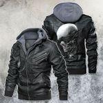 I Am Blind Not Deaf Skull Motorcycle Leather Jacket