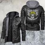 NY Biker Skull Leather Jacket
